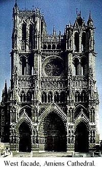 West Facade Amiens Cathedral Early Gothic