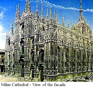 Facade Milan Cathedral Late Gothic