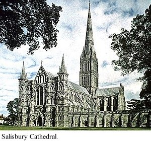 Facade Salisbury Cathedral English Gothic